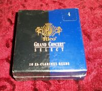 Rico Grand Concert Select Eb Clarinet Reeds - Pack of 10 - Size 4 - USA Made