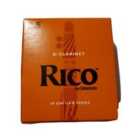 Rico by D'Addario RCA1025 Strength 2.5 Bb Clarinet Reeds - 9 Open Box Untouched