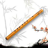 Traditional 6 Hole Bamboo Flute Clarinet  Musical Instrument Wood Color  Fv