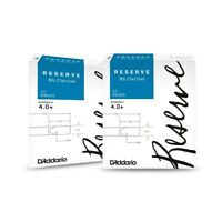D'Addario Woodwinds Reserve Bb Clarinet Reeds 10-Pack, 2 Box Special 4.0+