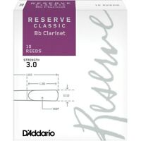 D'Addario Woodwinds Reserve Classic Bb Clarinet Reeds 10 Pack Strength 3