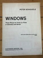 Peter Shickele Windows Three Pieces for Viola and Guitar sheet music
