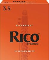 Rico by D'Addario Eb Clarinet Reeds Strength 3.5 10-pack