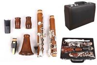 Professional Rosewood Clarinet Bb key Wooden Clarinet Gold Plated Key Case