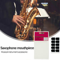 8Pcs Alto/Tenor Saxophone Sax Mouthpiece Patches Pads Cushions 0.8mm Silicone US