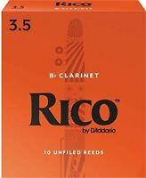 RICO Bb CLARINET, #3.5 (10 REEDS) EASY TO PLAY, AFFORDABLE,