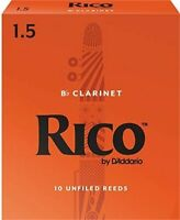 RICO Bb CLARINET, #1.5 (10 REEDS) EASY TO PLAY, AFFORDABLE,