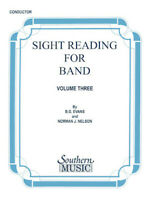 Sight Reading for Band, Book 3 Bass Clarinet (Billy Evans) Southern Music Bass C