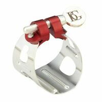 BG LD Silver-Plated Duo Alto Saxophone Clarinet Ligature with Cap