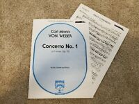 Concerto No. 1, op. 73 by Carl m. von Weber for Clarinet and Piano - Sheet Music
