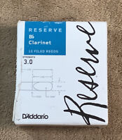 D'Addario Reserve Bb Clarinet Reeds, Strength 3.0, 10-pack T30