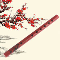 Traditional 6-Hole Bamboo Flute Clarinet Student Musical Instruments Wood C SAU