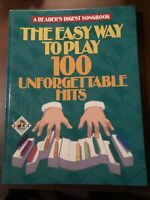 readers digest songbook 100 unforgettable hits 1991 first edition excellent cond