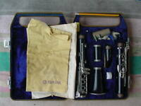 OLD Clarinet in hard Yamaha Case  Marked Y-12 Japan on Mouthpiece YOU RESTORE