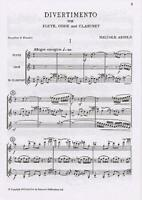 Divertimento For Wind Trio Op.37  Flute, Oboe and Clarinet Malcolm Arnold Study