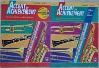 Accent on Achievement Bb Clarinet book 2 & 3 with CD