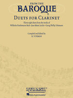 From the Baroque 38 Duets for Clarinet Classical Sheet Music Rubank Book