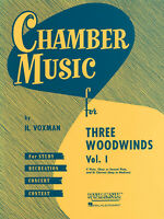 Chamber Music for Three Woodwinds Vol 1 for Flute Oboe Clarinet Rubank Book