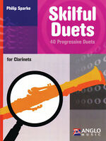 Skilful Duets for Clarinet Philip Sparke 40 Progressive Play-Along Book CD