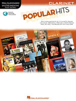 Popular Hits for Clarinet Solo Sheet Music Pop Song Play-Along Book Online Audio