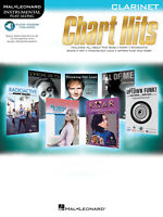Chart Hits for Clarinet Solo Sheet Music Play-Along 12 Songs Book Online Audio