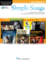 Simple Songs Clarinet Solo Sheet Music Play-Along Hal Leonard Book Online Audio