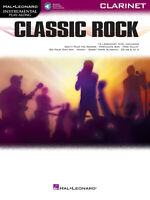 Classic Rock for Clarinet Solo Sheet Music 15 Songs Play-Along Book Online Audio