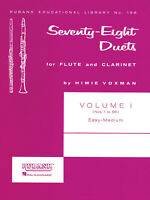 78 Duets for Flute & Clarinet Vol 1 No 1-55 Contest Sheet Music Rubank Book