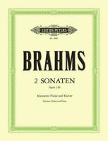 2 Sonatas For Clarinet or Viola  Clarinet and Piano Johannes Brahms Book Only EP