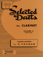 Rubank Selected Duets for Clarinet Vol 2 Advanced Classical Sheet Music Book
