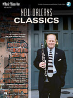 New Orleans Classics Clarinet Solo Sheet Music Minus One Play-Along Book Audio