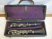 Antique Wooden Clarinet Albert Key System Wood Simple LP Musical Instrument