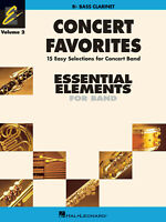 Concert Favorites Vol 2 for Bb Bass Clarinet Essential Elements 2000 Band Book