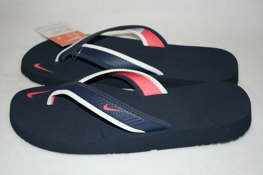 99457b34f268 NEW Womens NIKE Celso Girl Thong Flip Flop Sandals Navy White Mel on ...