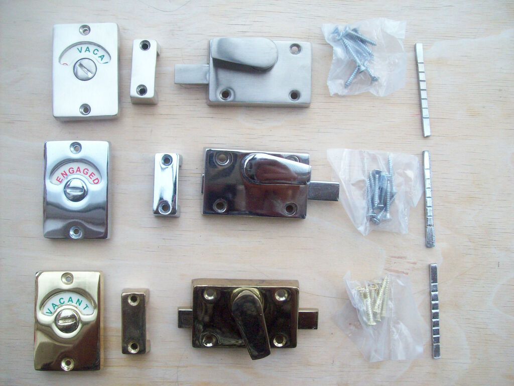 in 3 finishes wc vacant engaged toilet bathroom door lock