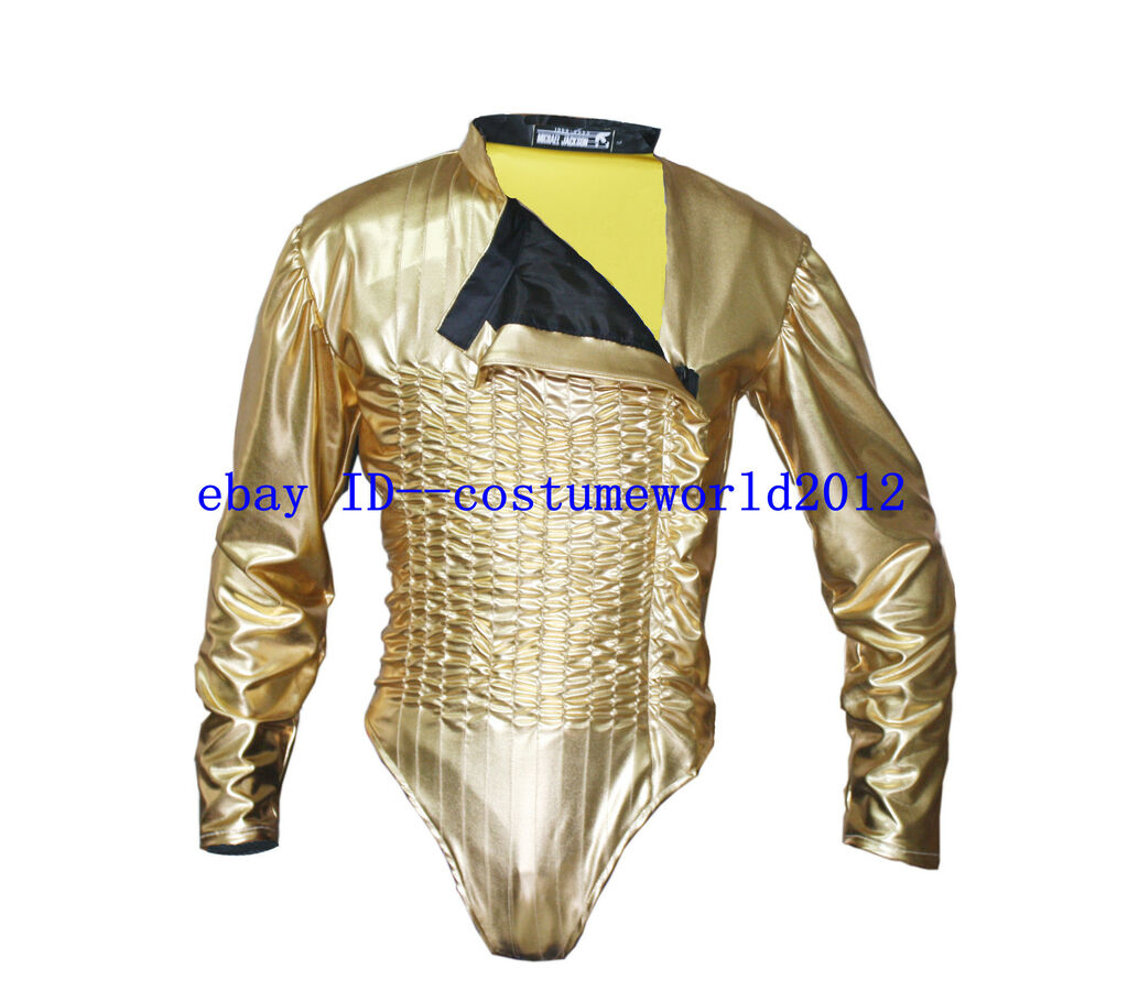 MICHAEL JACKSON Dangerous Gold Tour Leotard WITH FREE ARMBRACE MJ