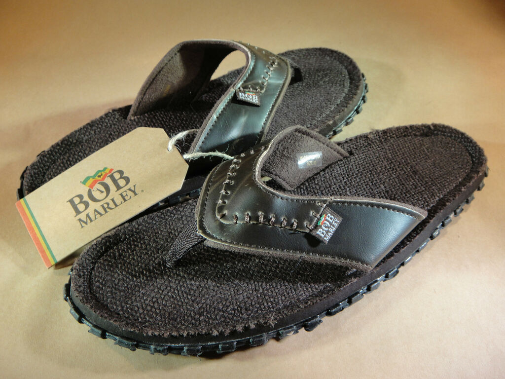 1a2e5e6eb00e BOB MARLEY FOOTWEAR MENS BROWN LEATHER HEMP FRESCO SANDAL FLIP FLOP ...