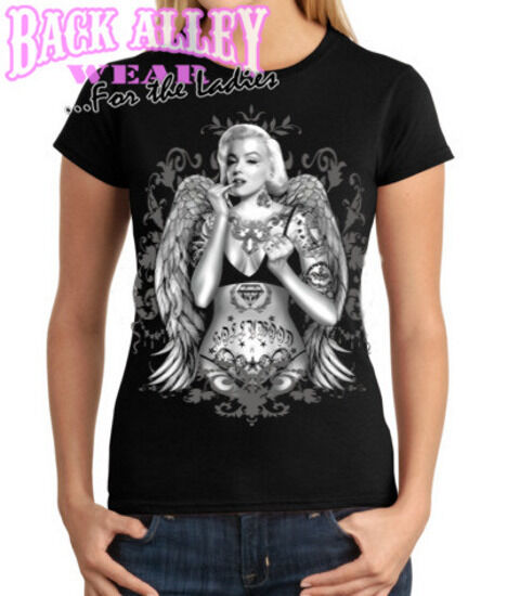 MARILYN MONROE GANGSTER HOLLYWOOD LADIES JUNIORS FIT T SHIRT S 2XL