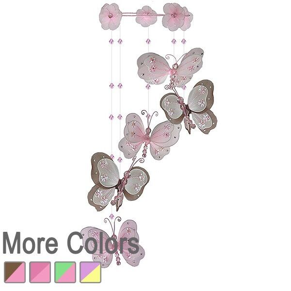 Grove   Butterflies Sprial mobile nursery hanging baby kids room