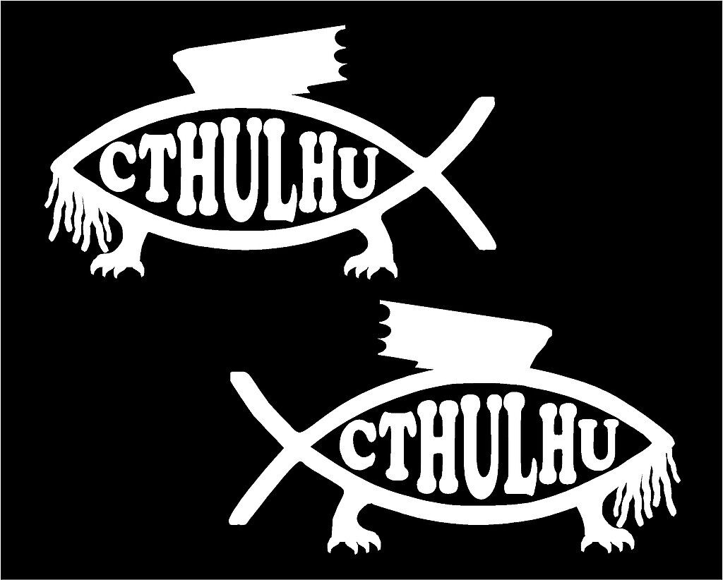Fish Set of Two car truck window laptop vinyl decal sticker graphic