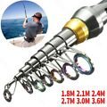 Ultralight Fishing Rod Carbon Fiber Telescopic Spinning Hard Pole Durable Rod
