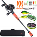 Sougayilang Ultralight Fishing Rod Reel Combos Portable Light Weight High Carbon