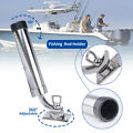 Boat Fishing Rod Holder 316 Stainless Steel Deck-Mount 360° Adjustable Rod Pod