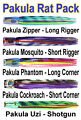 Pakula Rat Pack. Black Marlin Lure Spread. Unrigged Pakula Lures Marlin Pack