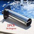 2PCS Durable 30 Degree Stainless Steel Boat Fishing Rod Holder Flush Mount US
