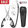 New Fishing Pliers Saltwater Stainless Steel Tool Hook Remover Braid Cutter USA
