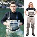 waterproof fly fishing waders attached neoprene stocking foot for man and women