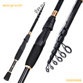 Portable Ultralight Fishing Rod Carbon Fiber Telescopic Sea Spinning Rod Pole US