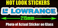 Lowrance Fish Finder Sticker Vinyl Decal for boat Fishing dinghy tackle Box