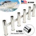 6 Tube Fishing Rod Holder 316 Stainless Steel Fishing Rod Rack for Boat Yacht